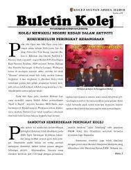 Buletin Kolej Edisi Oktober 2009 - Jabatan Pelajaran Negeri Kedah