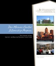 Des Moines Center Internship Program - Pomerantz Career Center ...