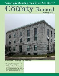 Missouri County Record Spring 2012 - Missouri Association of ...