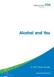 Alcohol and You - Mersey Care NHS Trust