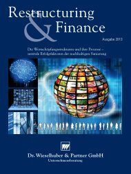 Restructuring & Finance Ausgabe 2013 - Dr. Wieselhuber & Partner ...