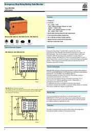 Emergency Stop Relay/Safety Gate Monitor