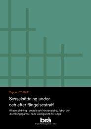 Sysselsättning under och efter fängelsestraff - Brottsförebyggande ...
