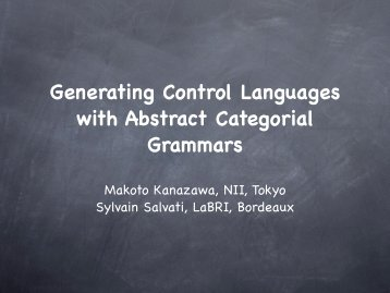 Generating Control Languages with Abstract Categorial Grammars
