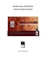 Biodiversity GIS (BGIS) Internet Map Tutorial - Biodiversity GIS - SANBI