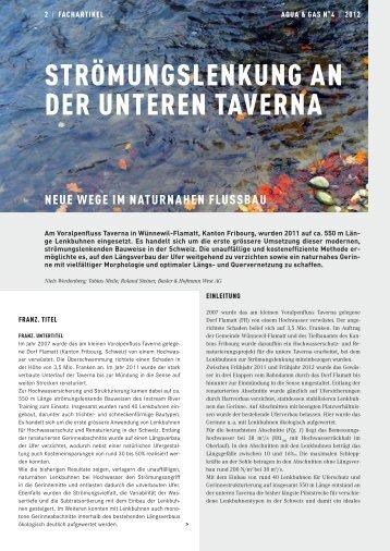 STröMuNgSLENKuNg AN DEr uNTErEN TAvErNA - Gemeinde ...