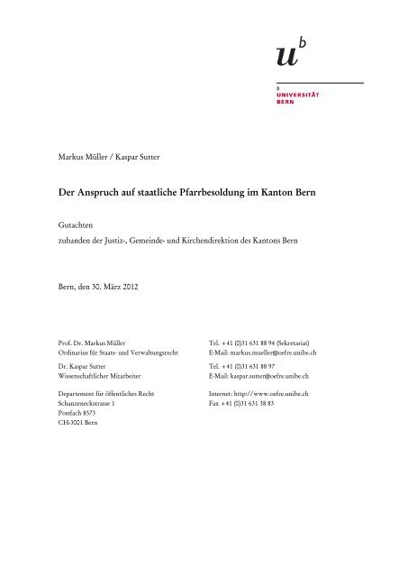 Gutachten Pfarrerbesoldung.pdf - Freidenker-Vereinigung der ...