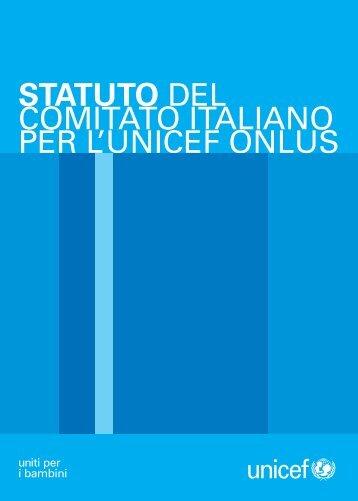 Statuto Comitato Italiano UNICEF