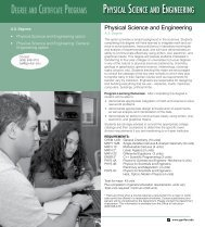 Physical Science and Engineering - Gavilan College