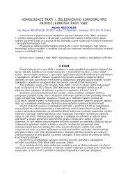 homologace trati i. železničního koridoru pro provoz ... - Railvolution