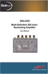 SRA-9201 User Manual - Ross Video