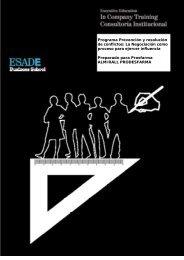Programa Prevención y resolución de conflictos: La Negociación ...
