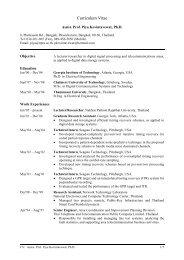 Curriculum Vitae - CiteSeerX