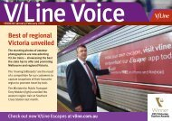 Best of regional Victoria unveiled - V/Line