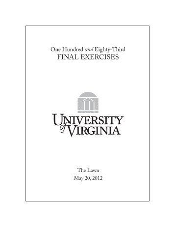 FINAL EXERCISES - University of Virginia
