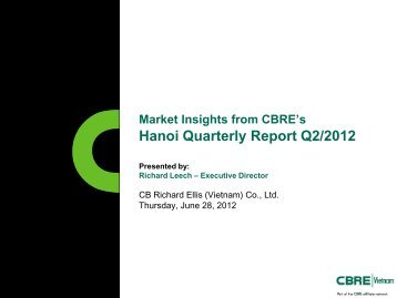 Market Insights from CBRE's Hanoi Quarterly Report Q2/2012