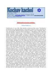 Zpravodaj – číslo 2/2012 - Židovská obec v Ostravě