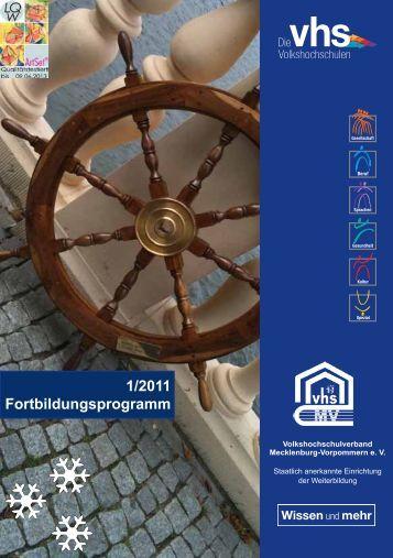 1/2011 Fortbildungsprogramm - Volkshochschulverband  ...