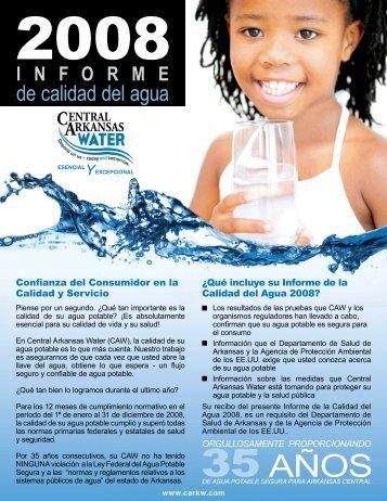 Informe Anual 2008 Sobre Calidad del Agua - Central Arkansas Water