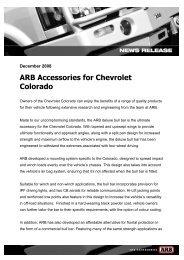ARB Accessories for Chevrolet Colorado