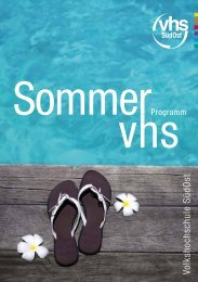 Volkshochschule SüdO st - VHS SüdOst