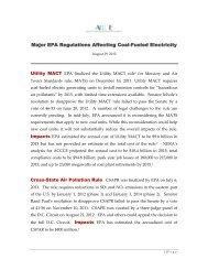 EPA Regulations as of August, 2012