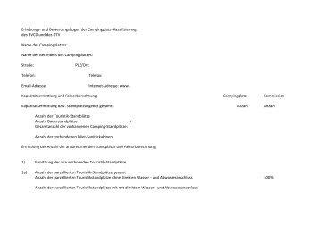 Erhebungs- und Bewertungsbogen der Campingplatz ...