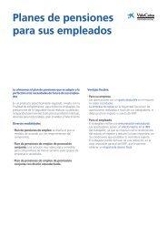 Planes de pensiones para sus empleados - la Caixa