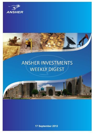 Ansher Investments News Digest for 10 - 14 September
