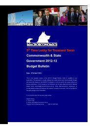 Commonwealth & State Government 2012-13 Budget Bulletin