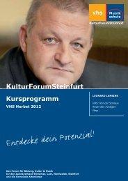 Kursprogramm Herbst 2012 - Volkshochschule Steinfurt