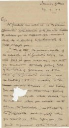 Letter from Mr. William Simms Chairman of the Governors of the ...