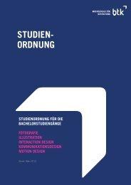 STUDIEN- ORDNUNG - btk