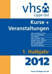 Gesundheit · Sport · Ernährung - Volkshochschule Lippe-Ost
