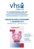 Gesundheit · Sport · Ernährung - Volkshochschule Lippe-Ost - Page 3