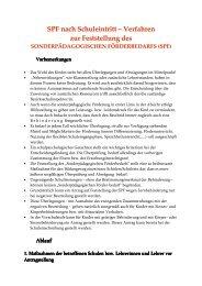 Richtlinien zum sonderpädagogischen Förderbedarf