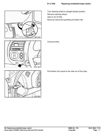 RA Replacing windshield wiper switch - Ad Kusters