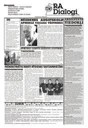 IZLAIDUMI - Rēzeknes Augstskola
