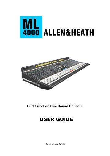 Allen Heath Ml 4000 user manual
