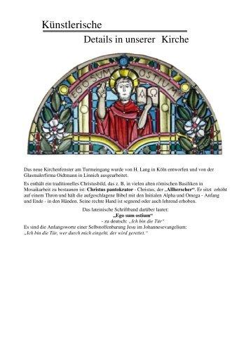 Künstlerische Details unserer Kirche - Pastoralverbund Oene Elspe ...