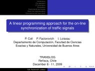 A linear programming approach for the on-line synchronization of ...