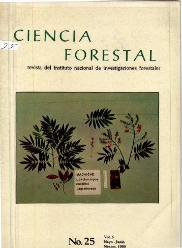 Vol. 5 Num. 25 - Instituto Nacional de Investigaciones Forestales ...