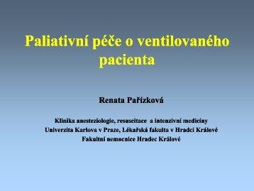 Paliativní péče o ventilovaného pacienta - Česká společnost ...
