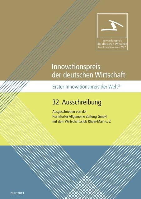 Ausschreibung (PDF) - Innovationspreis der deutschen Wirtschaft