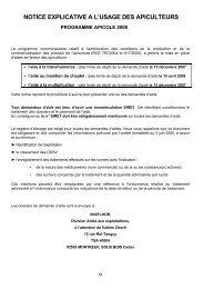 notice explicative a l'usage des apiculteurs - Apiculteur Savoyard