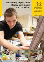 Developing higher-order literacy skills across the ... - Learning Wales
