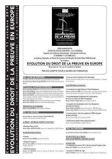Programme FR [PDF] - Union des Avocats Européens