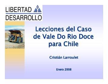 Lecciones del Caso de Vale Do Rio Doce para Chile