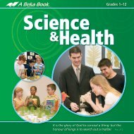 ABB Science-Health Brochure 2010 Web low - A Beka Book