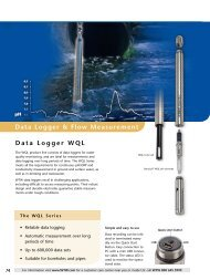Data Logger & Flow Measurement Data Logger WQL - Fagerberg